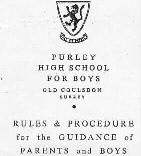 Cover page of rulebook